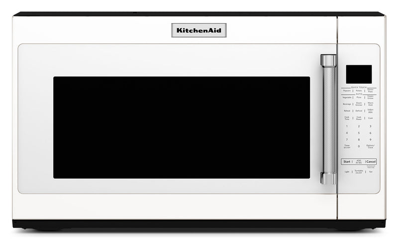 KitchenAid 2.0 Cu. Ft. Over-the-Range Microwave with Sensor Functions - White|Four à micro-ondes à hotte intégrée KitchenAid de 2,0 pi³ - blanc