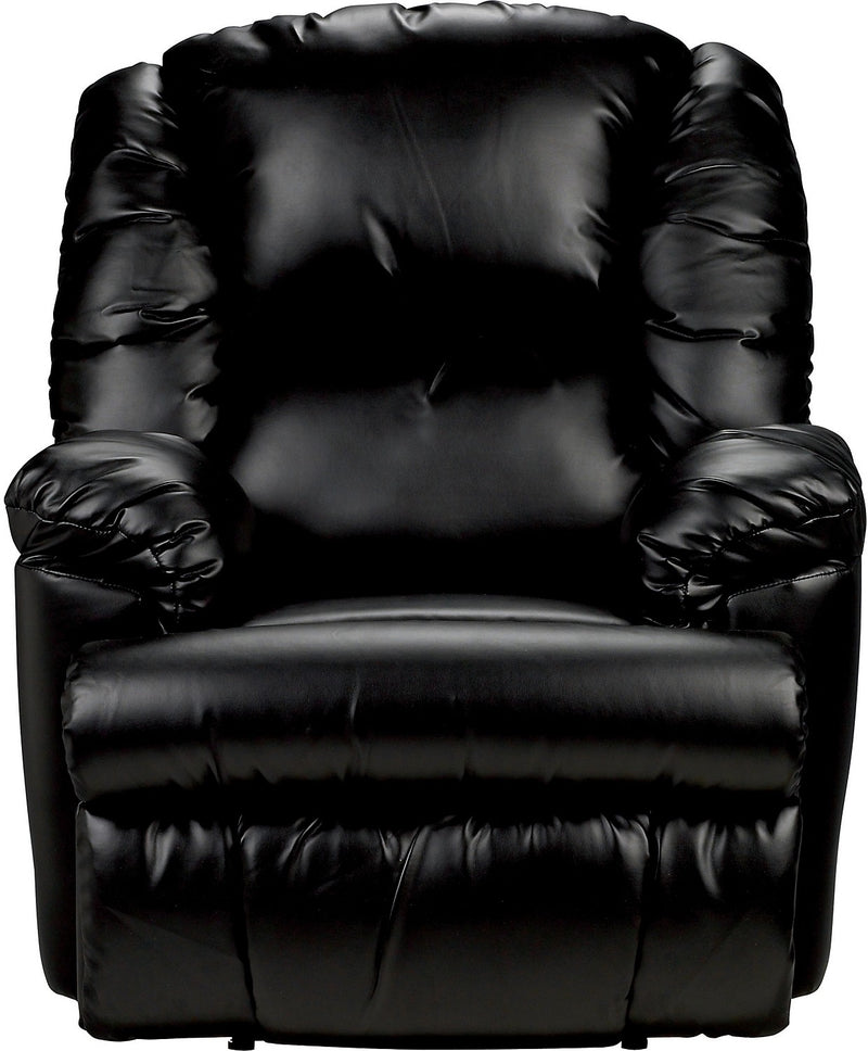 Bmaxx Bonded Leather Power Reclining Chair – Black|Fauteuil à inclinaison électrique Bmaxx en cuir contrecollé – noir