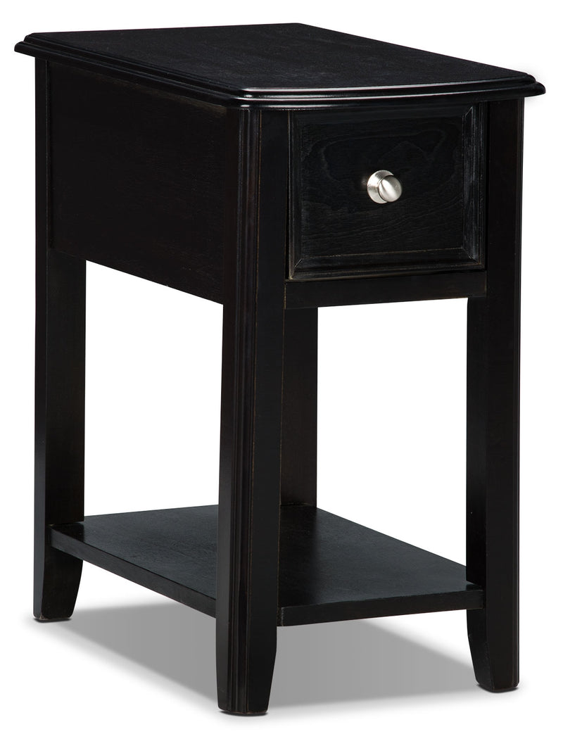 Sydney Accent Table – Espresso - Modern style End Table in Espresso Wood