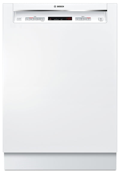 Bosch 300 Series Recessed Handle Built-In Dishwasher – SHEM63W52N - Dishwasher in White