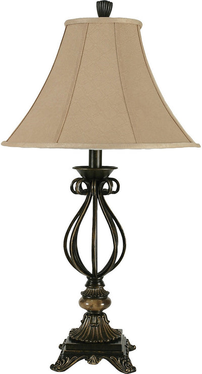 Aged Bronze Table Lamp|Lampe de table en bronze vieilli|BP4800BW