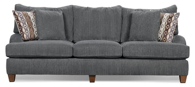 Putty Chenille Studio-Size Sofa – Grey - Contemporary style Sofa in Grey