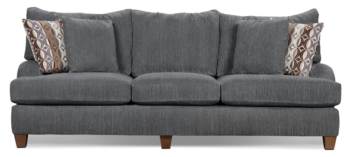 Shop Porter Monza Grey Chenille Sectional Sofa with Optional ...