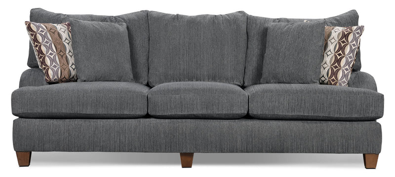Putty Chenille Sofa - Grey - Contemporary style Sofa in Grey