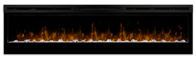 "Prism 74"" Wall-Mount Electric Fireplace - Modern style Electric Fireplace in Black"