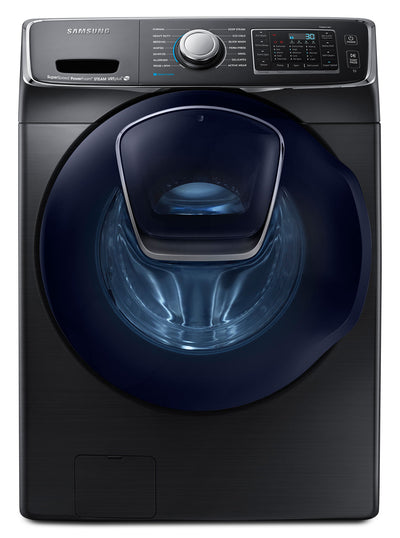 Samsung 5.8 Cu. Ft. Front-Load Washer – Black Stainless Steel WF50K7500AV/A2 - Washer in Black Stainless Steel