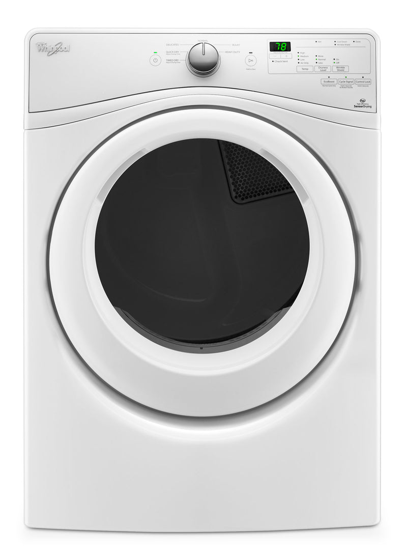Whirlpool 7.4 Cu. Ft. Electric Dryer – YWED75HEFW|Sécheuse électrique Whirlpool de 7,4 pi3 – YWED75HEFW|YWED75HW