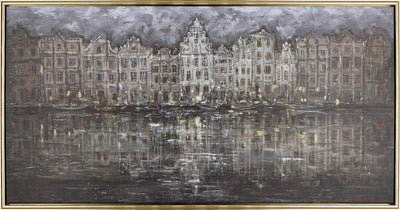 "Amsterdam at Night – 50"" x 26""