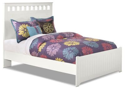 Lulu Full Panel Bed - Country style Bed in White