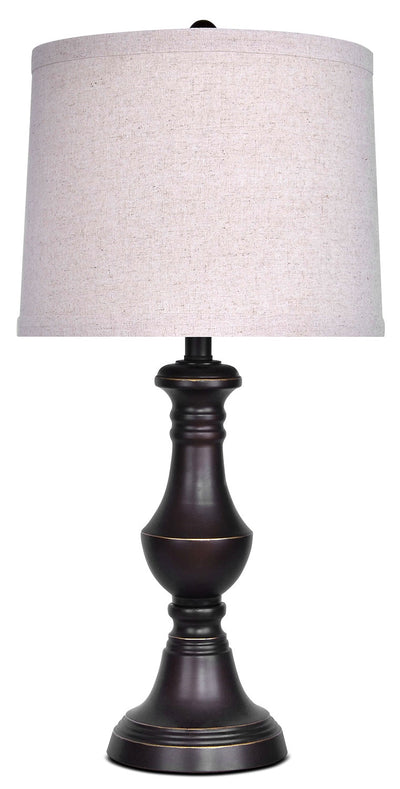 Oil-Rubbed Bronze Finish Table Lamp|Lampe de table au fini bronze huilé|ST9084LP