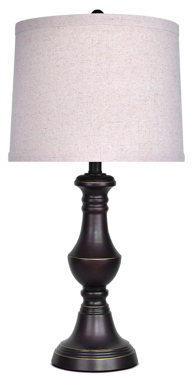 Oil-Rubbed Bronze Finish Table Lamp|Lampe de table au fini bronze huilé