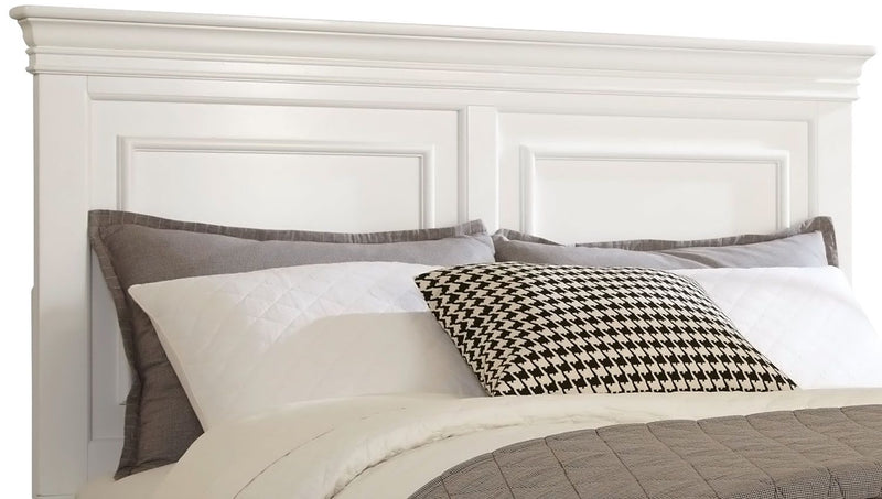 Bridgeport King Panel Headboard - White|Tête de lit à panneaux Bridgeport pour trés grand lit - blanc