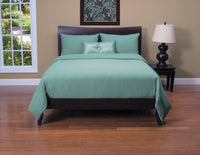 Belfast 4 Piece Queen Duvet Cover Set - Teal
