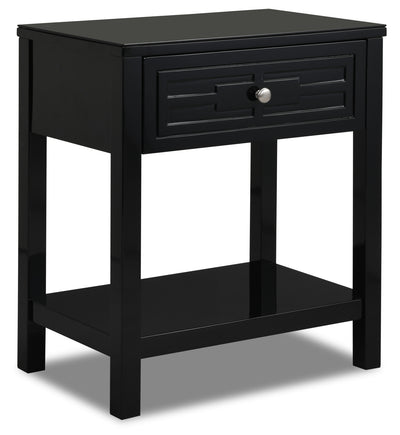 Beth Nightstand - Black|Table de nuit Beth - noire|BETHB1NS
