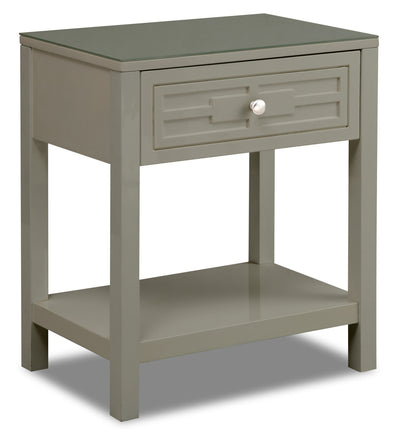 Beth Nightstand - Taupe - {Contemporary} style Nightstand in Taupe {Asian Hardwood}