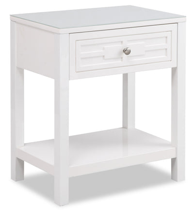 Beth Nightstand - White - {Contemporary} style Nightstand in White {Asian Hardwood}
