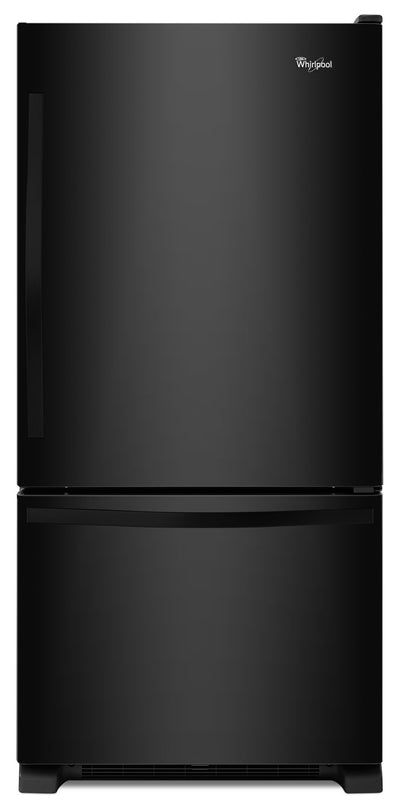Whirlpool 22 Cu. Ft. Bottom-Mount Refrigerator – WRB322DMBB - Refrigerator in Black