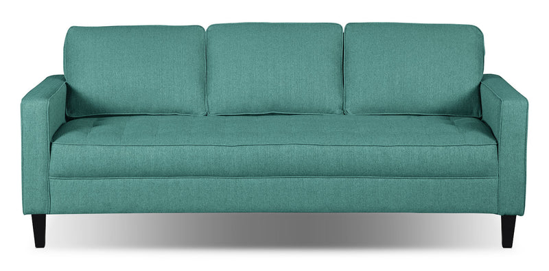 Paris Linen-Look Fabric Sofa – Ocean - Modern style Sofa in Ocean