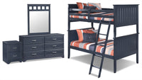 Leo 6-Piece Twin Bunk Bed Package