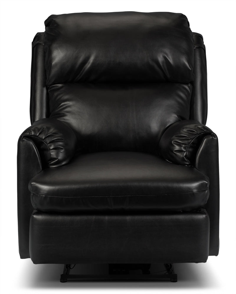 Drogba Faux Leather Recliner Black The Brick