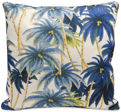 Blue Palm Accent Pillow|Coussin décoratif palmier bleu|BLPALMPP