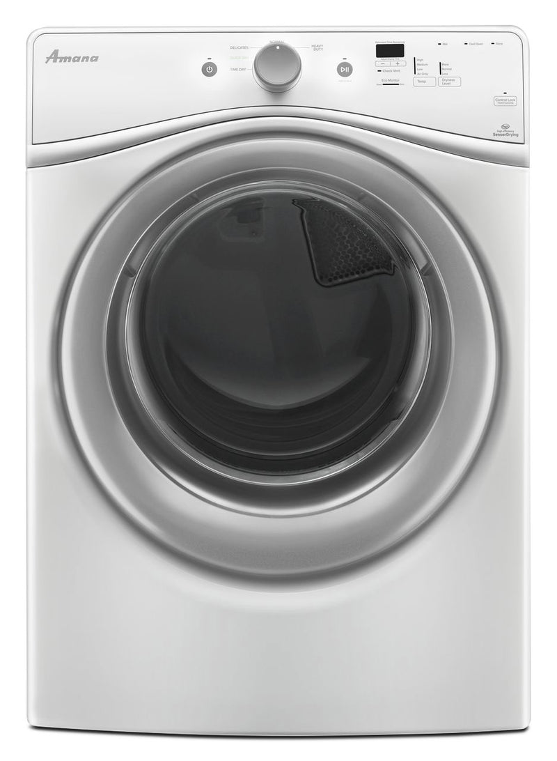 Amana 7.4 Cu. Ft. Electric Dryer - White|Sécheuse électrique Amana de 7,4 pi3 - blanche