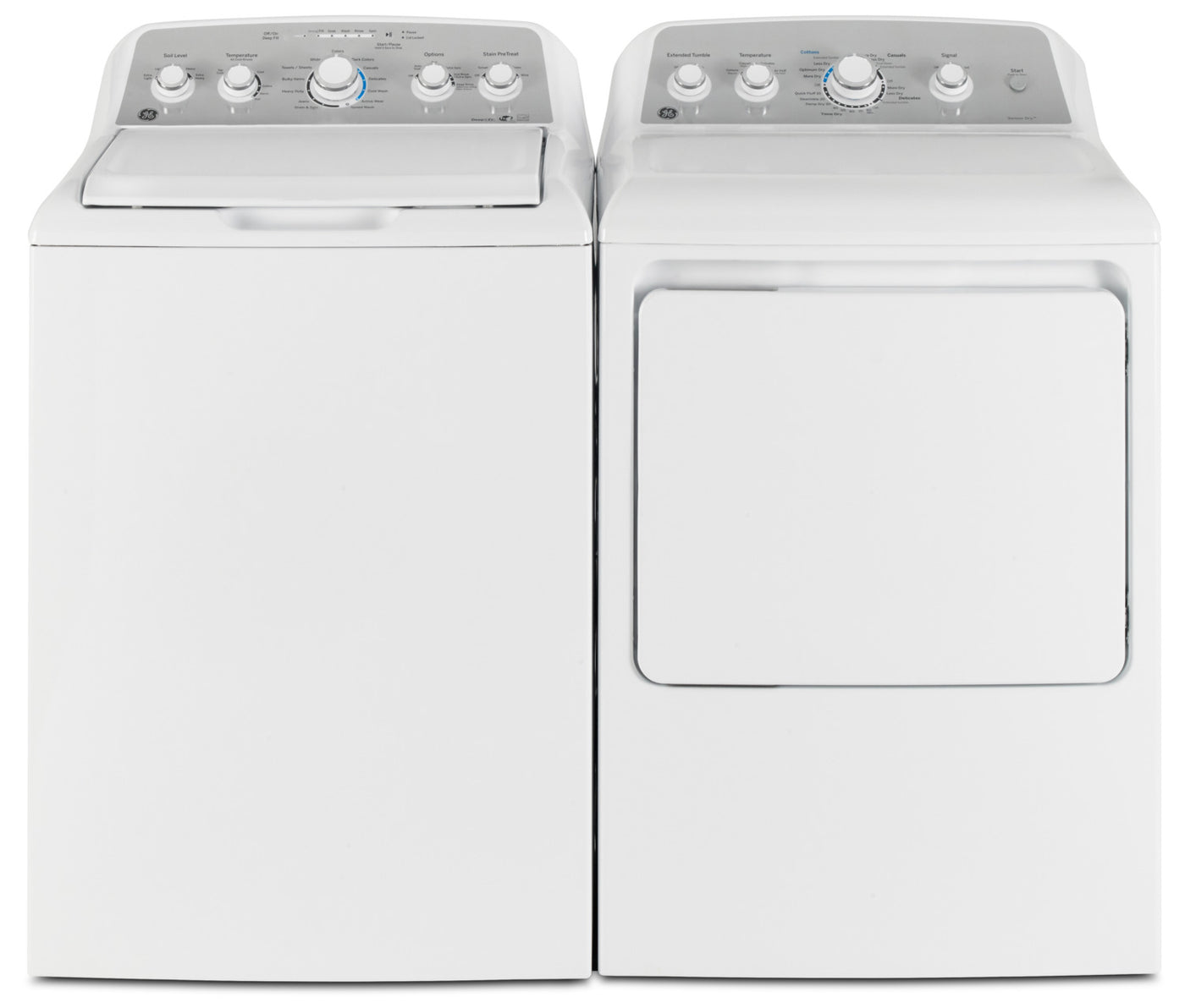 GE 4 9 Cu  Ft  Capacity Top-Load Washer with Stainless Steel Drum and 7 2  Cu  Ft  Electric Dryer