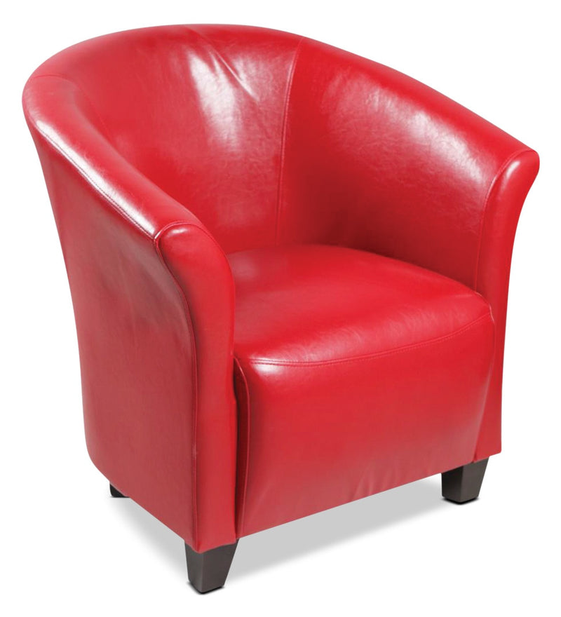 Red Accent Chair - Modern style Accent Chair in Red
