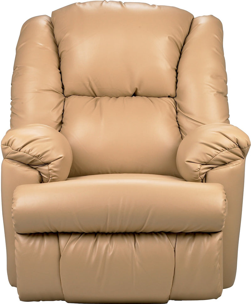 Bmaxx Bonded Leather Power Reclining Chair – Taupe - Contemporary style Chair in Taupe