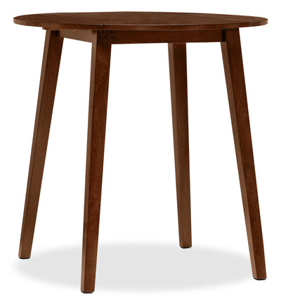 Adara Round Drop-Leaf Counter-Height Dining Table - Retro style Dining Table in Burnished Mango