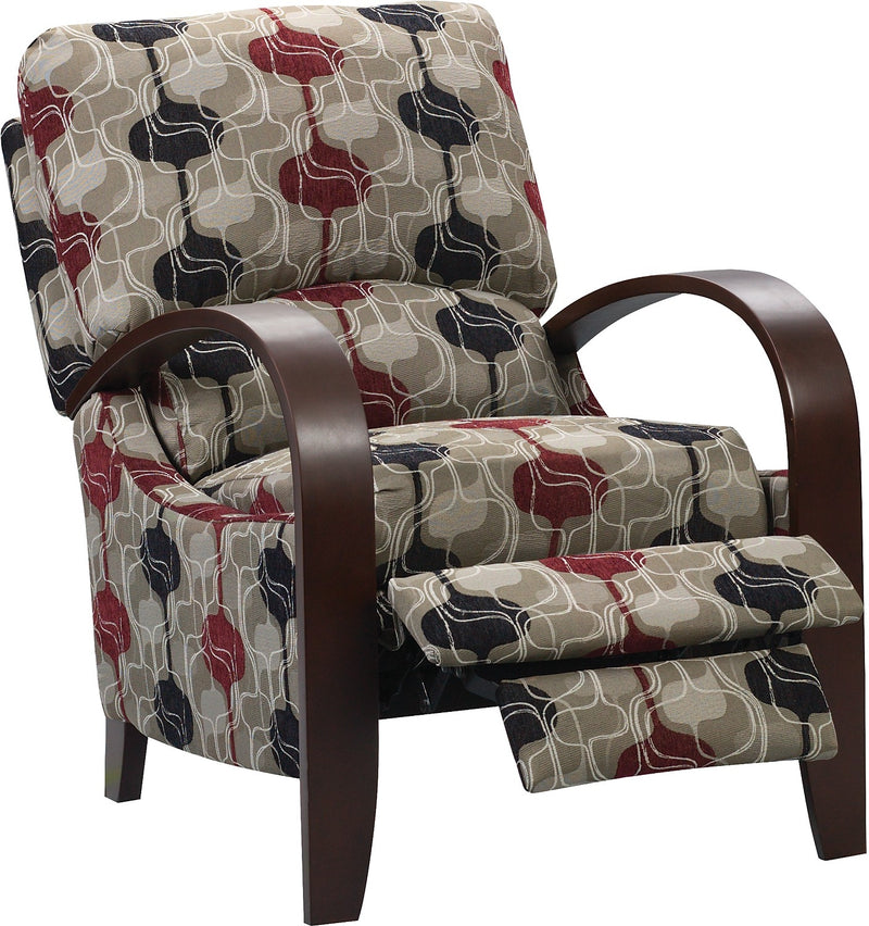 Aaron Reclining Fabric Accent Chair – Lava|Fauteuil d'appoint inclinable Aaron en tissu - magma
