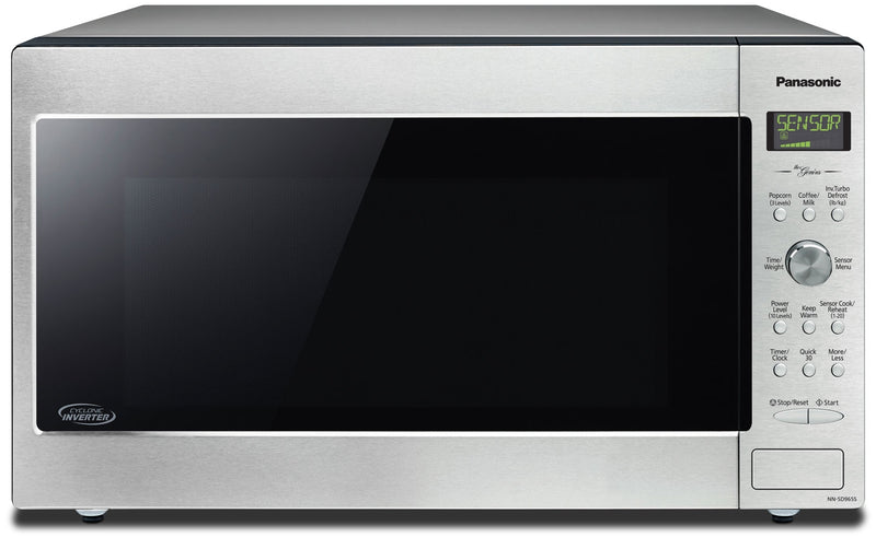 Panasonic® 2.2 Cu. Ft. Digital Countertop Microwave - Stainless Steel|Four à micro-ondes de comptoir Panasonic numérique de 2,2 pi³ - acier inoxydable|NNSD965S