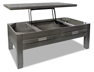 Bronx Coffee Table with Lift Top - Grey  | Table à café Bronx avec dessus relevable - grise | BRONGCTB