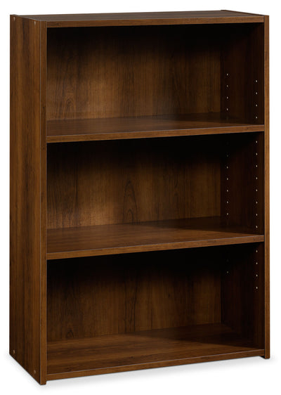 Boston 3-Shelf Bookcase – Brook Cherry - Contemporary style Bookcase in Dark Brown Wood