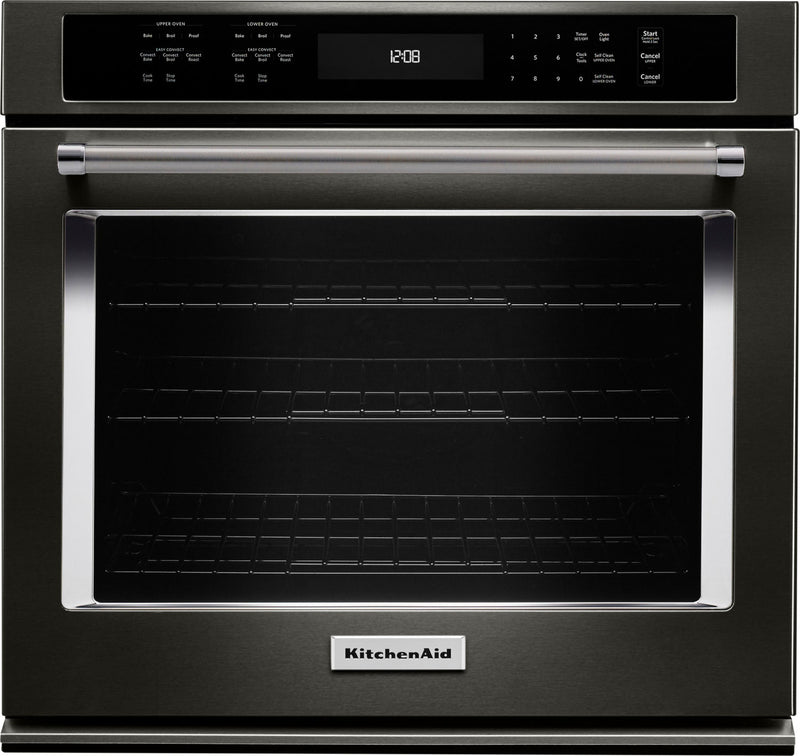KitchenAid 5.0 Cu. Ft.  Single Wall Oven with Even-Heat™ True Convection – KOSE500EBS|Four mural simple KitchenAid de 5,0 pi3 à convection véritable Even-HeatMC - KOSE500EBS