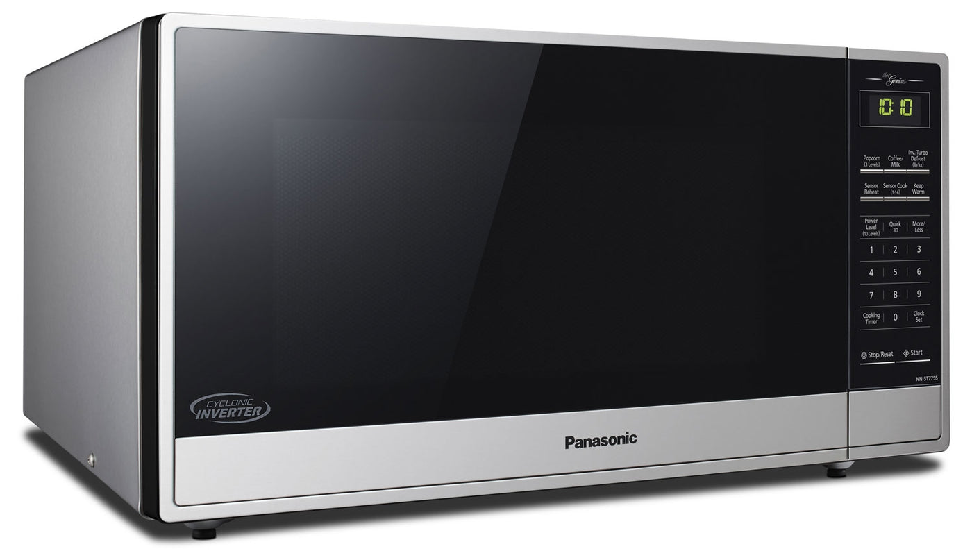 Panasonic 1 6 Cu Ft Countertop Microwave Stainless Steel The