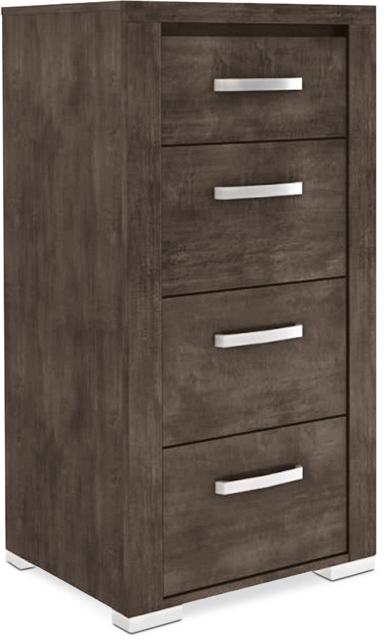 Monaco 4-Drawer Chest – Anthracite Grey|Commode verticale à 4 tiroirs Monaco - anthracite