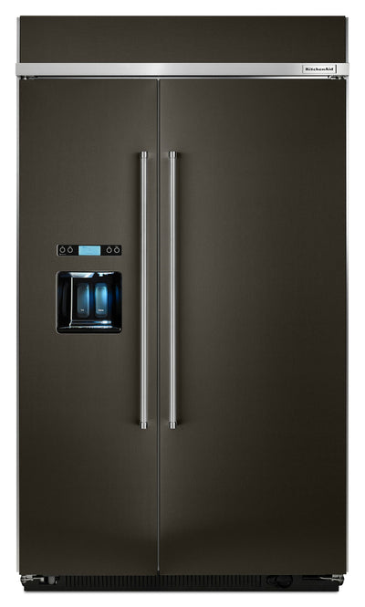 KitchenAid 29.5 Cu. Ft. Built-In Side-by-Side Refrigerator – KBSD608EBS - Refrigerator with Exterior Water/Ice Dispenser, Ice Maker in Black