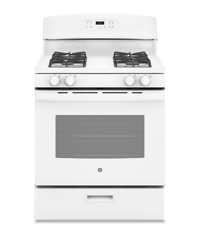 GE 5.0 Cu. Ft. Freestanding Gas Range – JCGBS60DEKWW - Gas Range in White