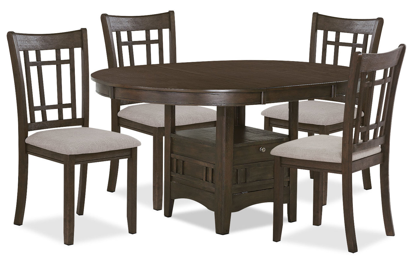 Marvelous Desi 5 Piece Dining Package Brown Onthecornerstone Fun Painted Chair Ideas Images Onthecornerstoneorg