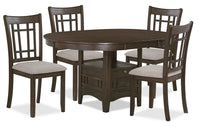Desi 5-Piece Dining Package – Brown