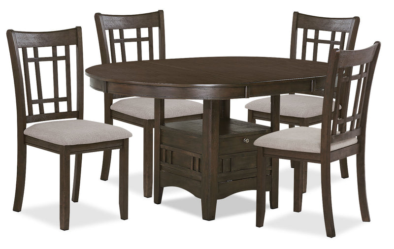 Desi 5 Piece Dining Package Brown