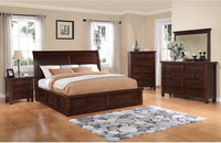 Sonoma 7-Piece King Storage Bedroom Set - Dark Brown