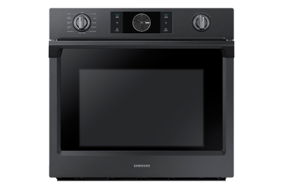 Samsung 5.1 Cu. Ft. Convection Wall Oven with Steam Bake - NV51K7770SG/AA - Electric Wall Oven in Black Stainless Steel