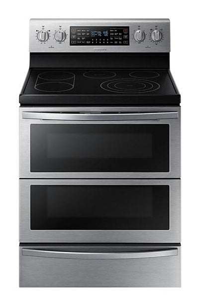 Samsung Flex Duo™ Dual Door™ Convection Electric Range - NE59T7851WS/AC - Electric Range in Stainless Steel