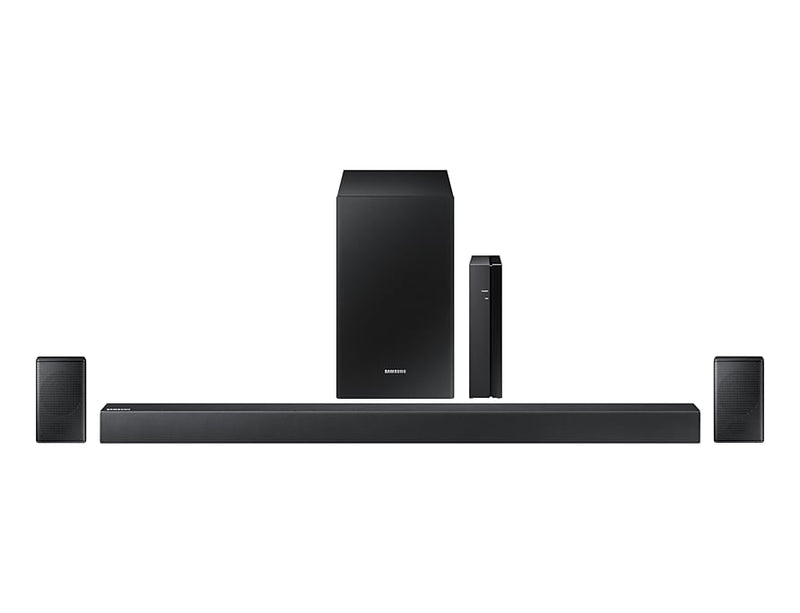Samsung 4.1 Channel 240 W Soundbar with Wireless Subwoofer and Rear Speakers - HW-R47M/ZC|Barre de son HW-R47M à 4.1 canaux et caisson d'extrêmes graves sans fil de Samsung -  240 W