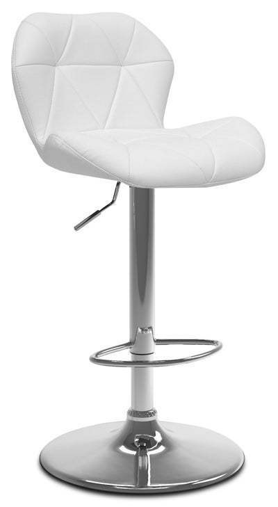 Emry Adjustable Bar Stool – White|Tabouret bar réglable Emry - blanc|EMRYWTBS