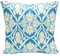Turquoise Damask Accent Pillow