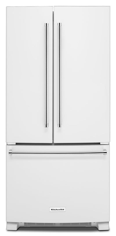 KitchenAid 22.1 Cu. Ft. French Door Refrigerator with Interior Water Dispenser - White - Refrigerator with Ice Maker in White