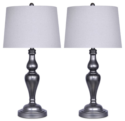 Vintage Metal 2-Piece Table Lamp Set|Ensemble 2 lampes de table en métal rétro|ST9109PK
